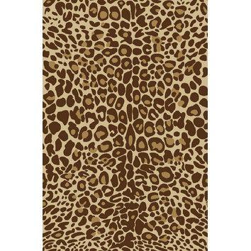 Infinity Home Kings Court Gold Leopard Animal Print Rug    Wayfair.com