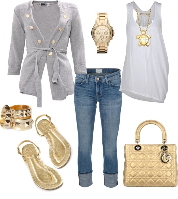 Love this look: Outfits Fashion, Dreams Closet, Love It, Luv Fashion, Dresses Outfits, Gold, Dreams Wardrobes, Spring Outfits, Style Fashion