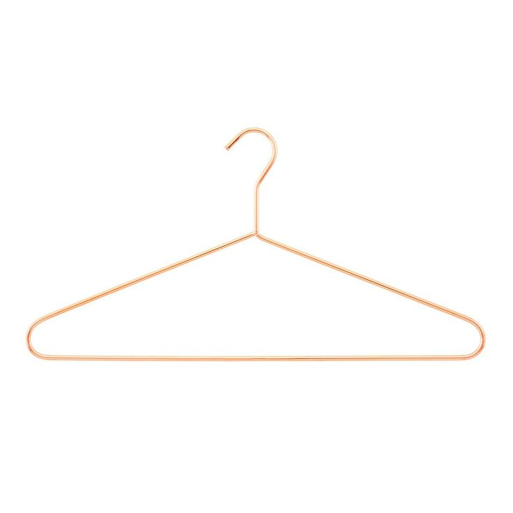 Copper Metal Hanger - The Container store, Copper and Gold both