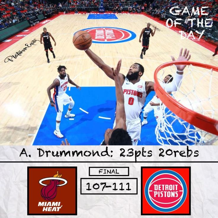 Game of the Day: Heat vs Pistons. Will Detroit make any more moves before the deadline? Comment and Read Below   .-.-.-.-.-.-.-.-.-.- The Pistons are looking nice. I kinda just ate my words from a couple days ago but Detroit was cooking last night. Ish was fantastic scoring 25 on 78.6% shooting. Drummond obviously was amazing posting a stat line that very few have posted. Blake was only slightly disappointing at 31.6% shooting but he still posted 16-9-7. Were not even mentioning how good…