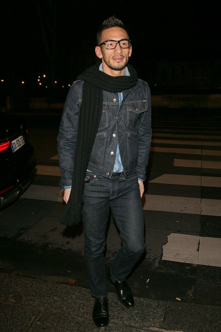 The Best-Dressed Men of the Year: Our 52 Favorite Outfits of 2016 Photos | GQ WHO: Hidetoshi Nakata Toggle WHAT: Tom Ford WHERE: Leaving a Louis Vuitton dinner, Paris  WHEN: March 9, 2016  WHY: The soccer star turned menswear god never disappoints, and this prime TF denim kit isn't doing anything to change that. Consider this proof that double denim (of the same wash, too) can be done—and done damn well.