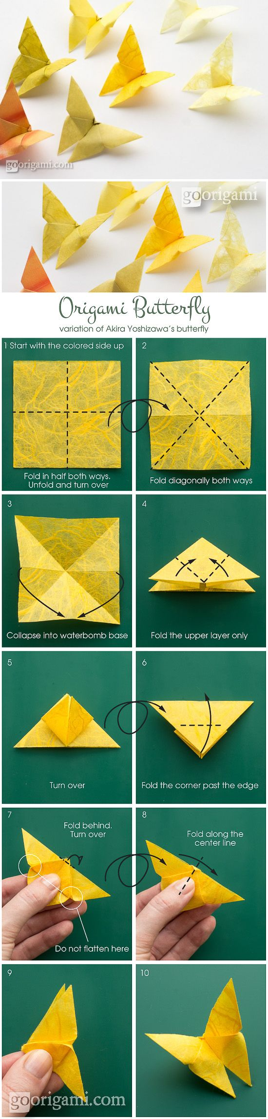 youtube origami butterfly instructions