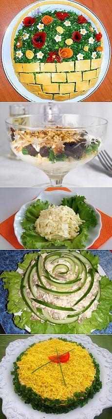 Вкусная еда: салаты с плавленым сыром / Простые рецепты