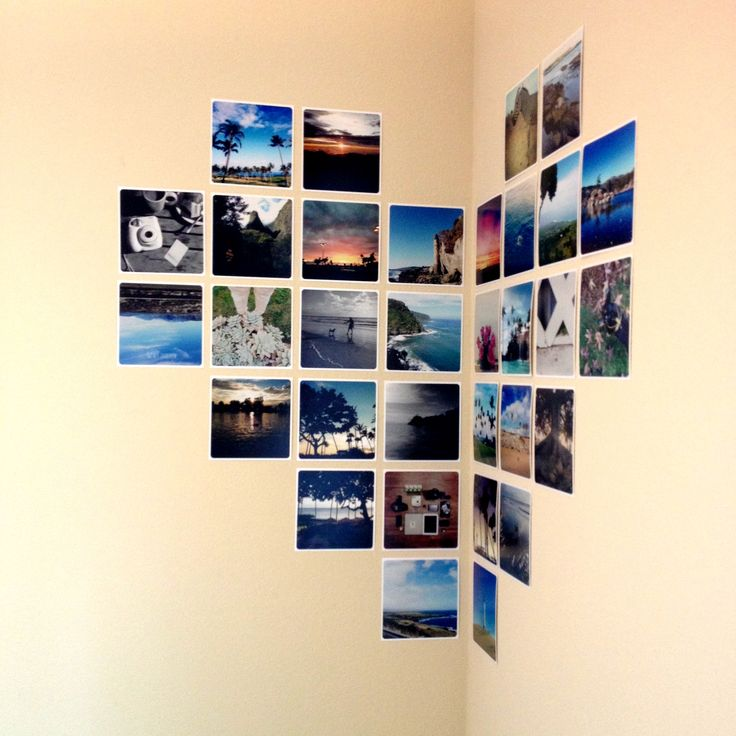 Corner Heart Display with iPhone Photo Prints DIY - PostalPix blog!