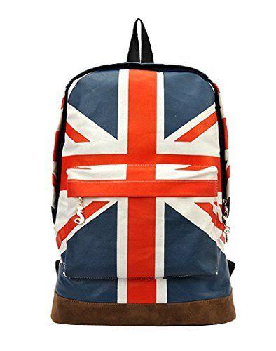 niceeshop(TM) London Stil Tagesrucksack Rucksack Leinwand Buchtasche Schultaschen für Frauen Männer, Britische Flagge Muster | Your #1 Source for Toys and Games