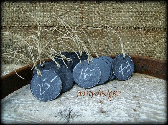 Reusable chalkboard tags craft show price tags set of 15 for Price tags for craft shows