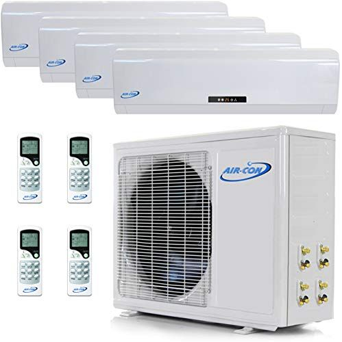 Multi Zone Mini Split Ductless Air Conditioner Quad Zone 9000 9000 9000 9000 Whisper Quiet High Eff Ductless Air Conditioner Ductless Solar Power Diy