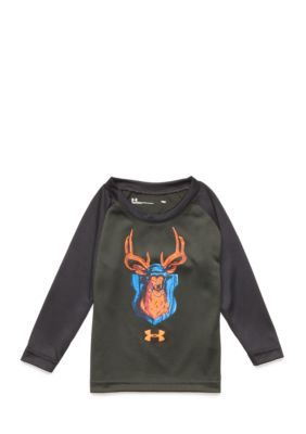 Under Armour Deer Illustrated Raglan Tee Infant Boys - Artillery Green - 24 Months