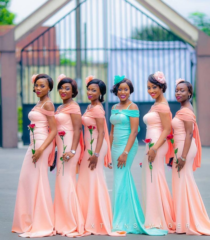 """13.7k Likes, 62 Comments - No.1 Nigerian Wedding Blog (@nigerianwedding) on Instagram: """"Lovely colours  #Bridesmaids for #ChuChe2016 ! : @xtiansimagery #NigerianWedding #NWbms"""""""