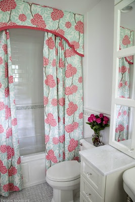 Custom Shower Curtain. I Would Use A Different Pattern, But This Is So  Pretty