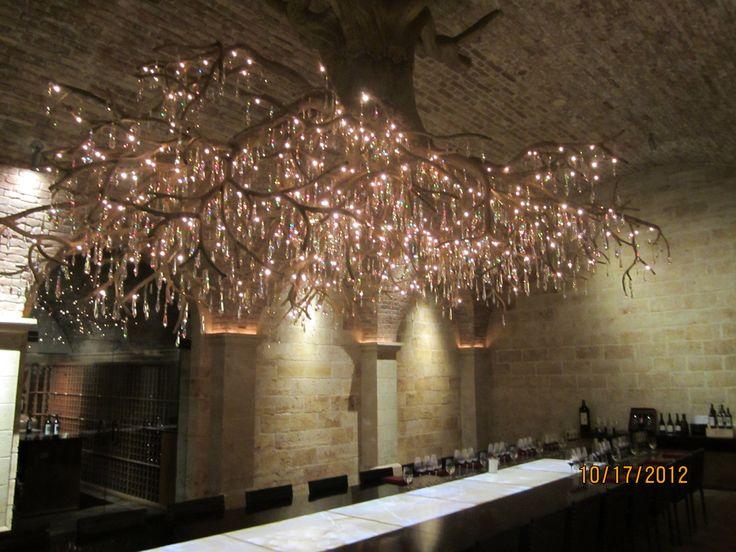 Grapevine Chandelier: Hall Estate grapevine root chandelier,Lighting