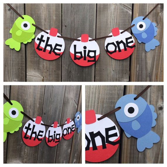the big one fish and bobber banner fish high by lilcraftychickadee