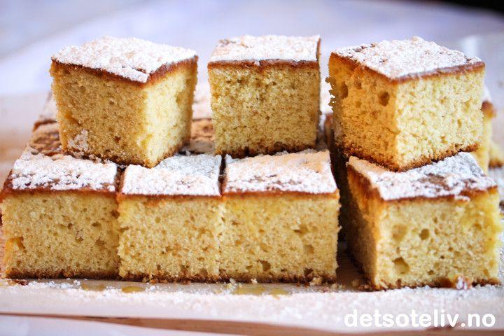 Gresk yoghurtkake i langpanne med vanilje og appelsin   Det søte liv