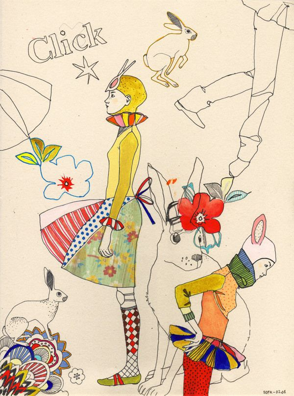 daily sketches by Sophie Leblanc, via Behance