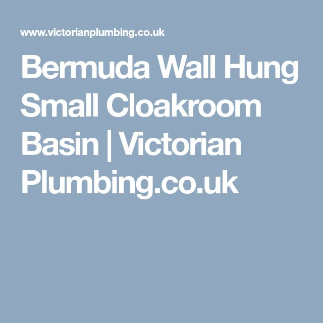 Bermuda Wall Hung Small Cloakroom Basin   Victorian Plumbing.co.uk