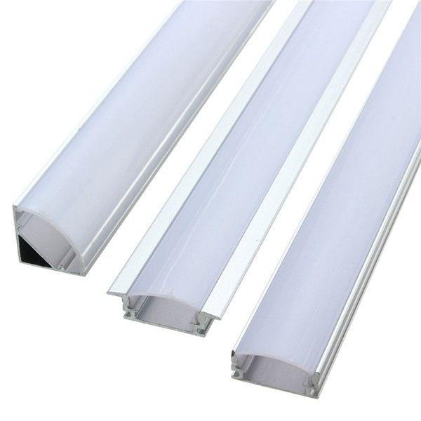 Lustreon 50cm Aluminum Channel Holder For Led Strip Light Bar Under Cabinet Lamp Doesnotapply Led Strip Led Strip Lighting Strip Lighting