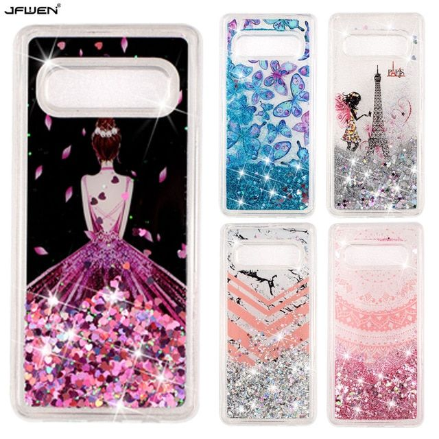 Printed Liquid Glitter Phone Cases For Samsung Galaxy S10 Plus