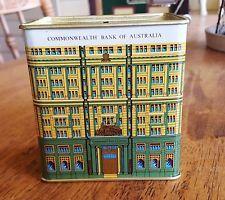 Vintage Commonwealth Bank of Australia Tin Money Box Collectable Icon CBA