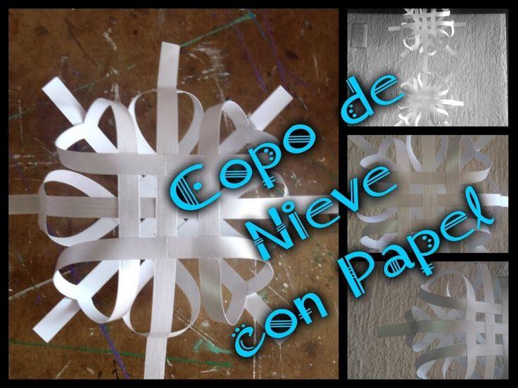 DIY Copo de nieve con tiras de papel