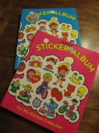 Sticker Albums  I thought these were so cool