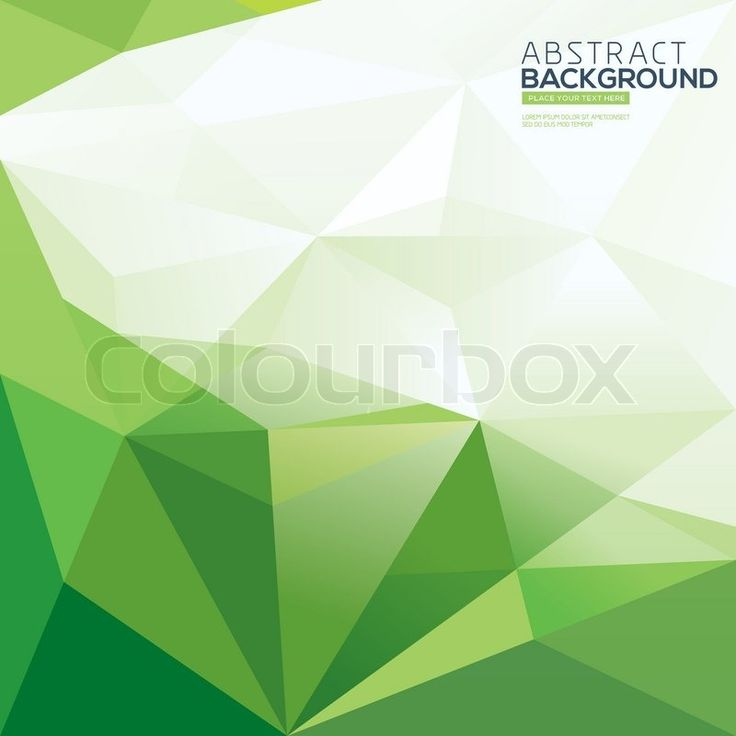 Stock vector ✓ 15 M images ✓ High quality images for web & print | Green triangle vector abstract polygonal background