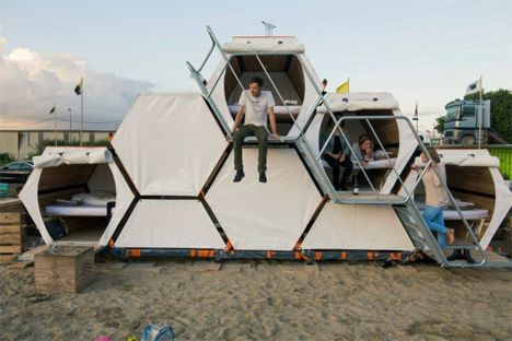 Modular Honeycomb Pods Aimed at Music Festival-Goers