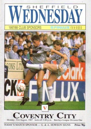 31 August 1987 v Sheffield Wednesday Won 3-0
