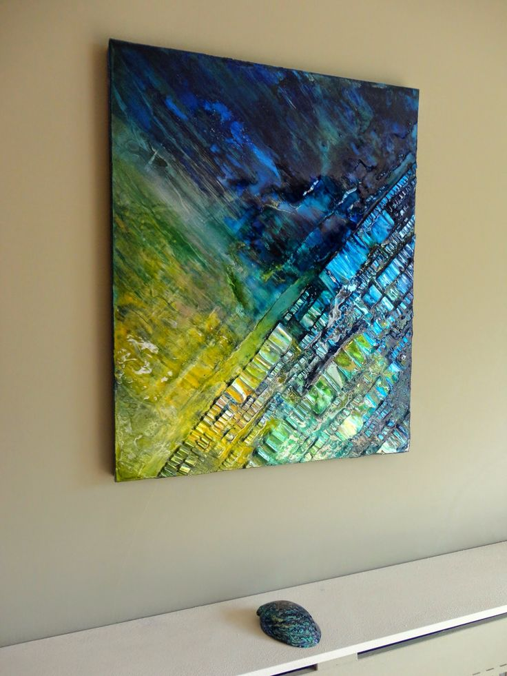 Abstract Art by Paul Mason Love the placement of texture on this