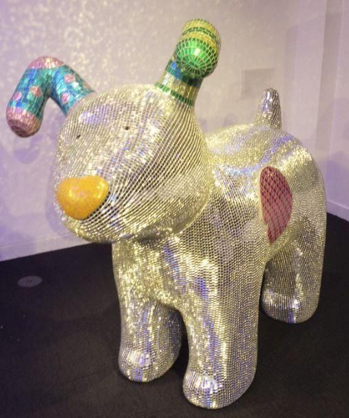#3 - Disco Dog THE MOST popular Snowdogs have been revealed with an arty pooch showing up as the most visited.