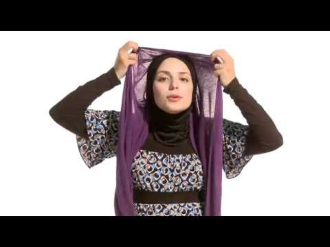I love the way veils are wrapped and I used my pashmina to try these. Complete respect intended, btw. I am just fascinated by the things that are part of the daily lives of women of various cultures.     Youtube: How to wear hijab-a few very basic styles for newbies.