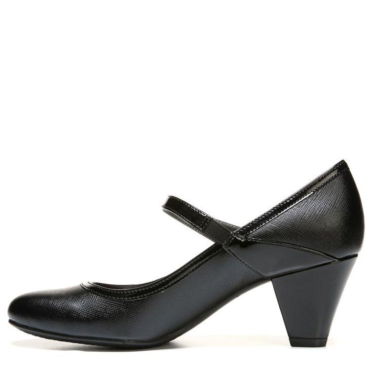 Lifestride Women's Gigi Medium/Wide Slip Resistant Mary Jane Pump Shoes (Black)