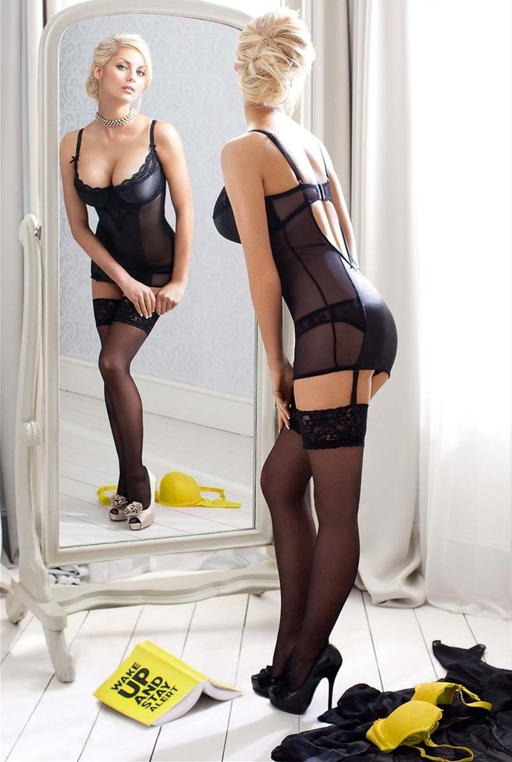 #Sexy Black & Sheer #Lingerie: Mirror, Sexy, Posts, Minis, Black Lingerie, Lace Shorts, Jessica Clement, Nice Outfits, Beautiful Lingerie