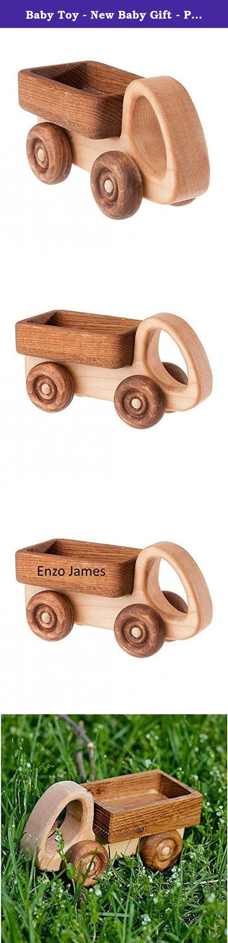 "Baby Toy - New Baby Gift - Personalized Toy Car Wooden Truck Tree Toy. For the young driver's car - car it is also the most precious gift. The surface of the toy car carefully polished, rounded edges, wheels spinning. All the toys are covered in a natural way - ""polishing"" the food of the highest standard with linseed oil. What makes a machine can safely play in the mode of rolled-chewed-shook-rattled-chewed swivel casters. Wood - an ideal material for children's toys, hard and soft by..."