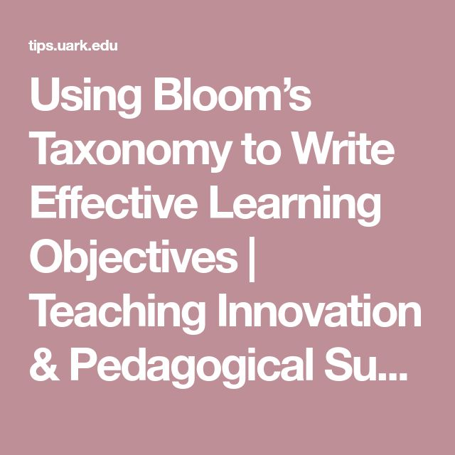 Using Learning Standards And Bloom S Taxonomy With: Best 25+ Learning Objectives Ideas On Pinterest