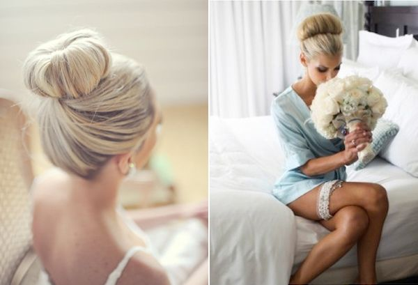 Wedding bun trend - maybe bridesmaids hair?