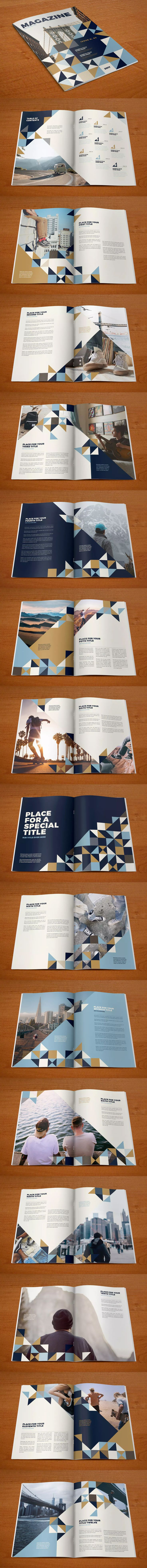 Cool Pattern Magazine Template InDesign INDD - 32 Custom Pages