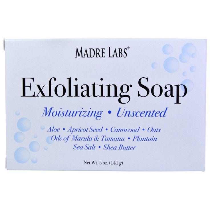 Madre Labs, Отшелушивающее мыло с маслом ши, марулы и таману, без запаха, 5…