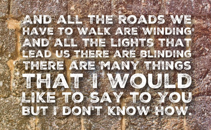 Song Lyrics Title: Wonderwall Band: Oasis