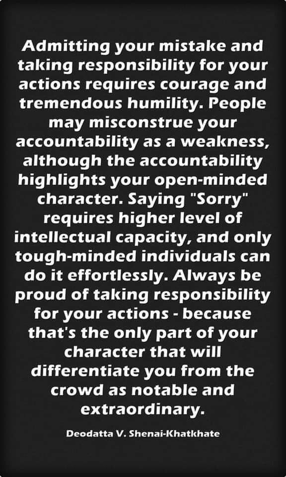Taking Responsibility Humility Quotes Accountability Quotes Take Responsibility Quotes