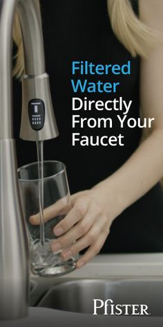 Pfister faucets with Xtract technology deliver great-tasting filtered water and regular tap water from a single faucet, 2X faster than typical water filter products. Xtract uses GE® 2X High Flow Filtration which reduces contaminants such as pharmaceuticals, chlorine, and lead.