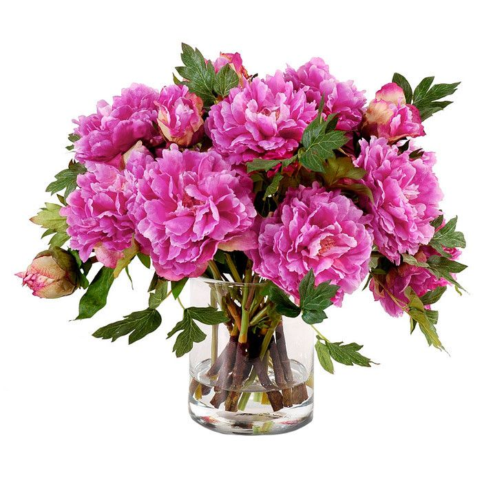 faux fuchsia peony arrangement - Common Flowers In Arrangements