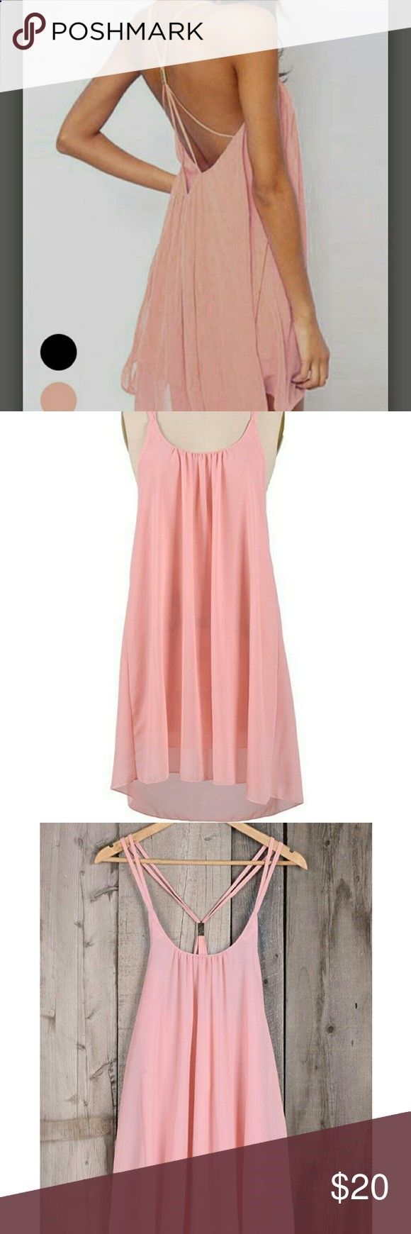 Clothes for Romantic Night - Clothes for Romantic Night - Open back chiffon slip dress Gorgeous back cut out! Soft pink chiffon dress with metal accent gathering the crisscross straps. I pulled it out of the package, steamed it, and tried it on, but has never otherwise been worn. Medium but the chest was a little tight on me. Great, romantic option for date night, a wedding, or a stroll on the beach! cupshe Dresses Mini - If you are planning an unforgettable night with your lover, you ...