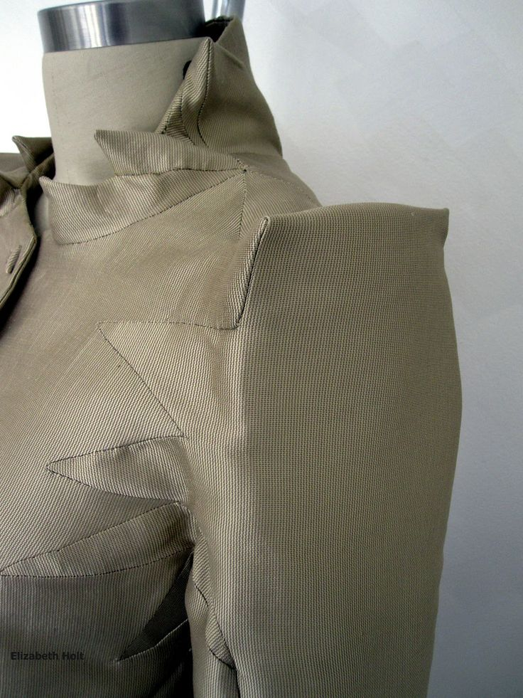 Box integration technique - creative pattern making inspired by Shingo Sato - fabric manipulation; fashion construction; jacket design // Elizabeth Holt