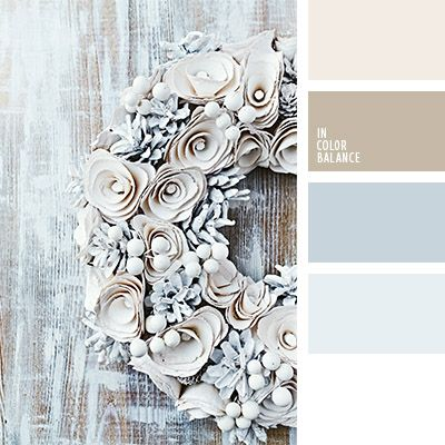charming white and silver colors of winter decor. Color inspiration for design, wedding or outfit. More color pallets on color.romanuke.com.