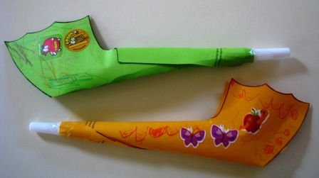 Paper shofar - Rosh Hashanah craft for kids: