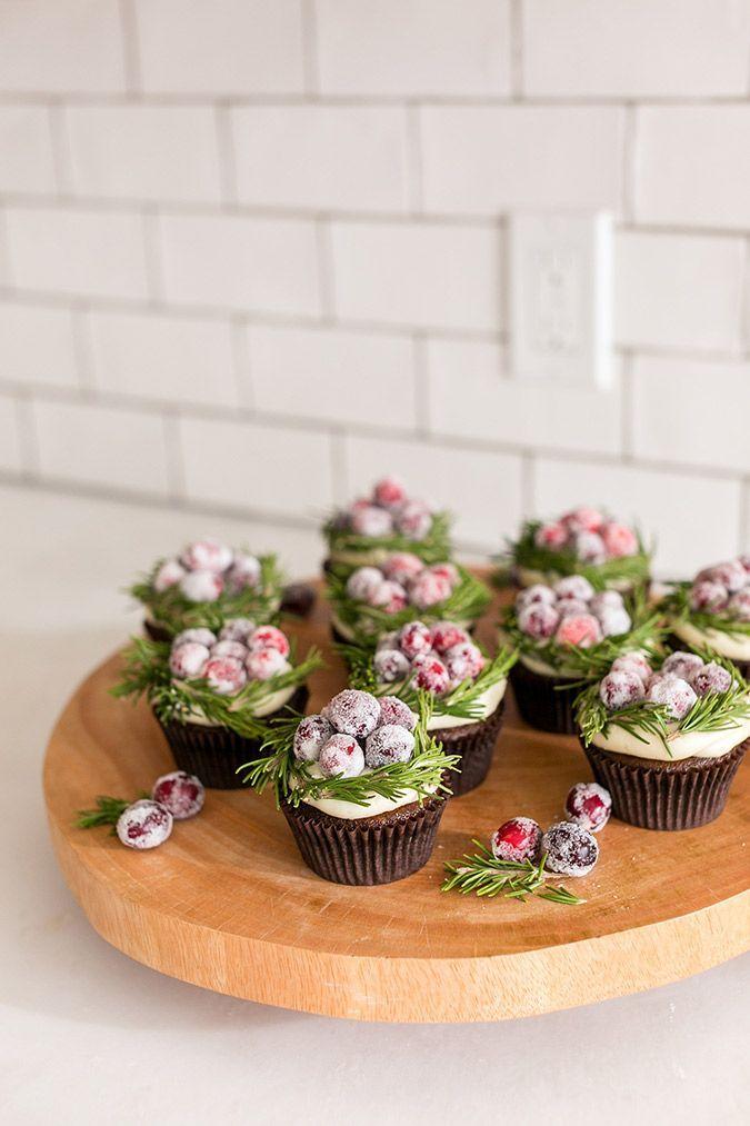 Lauren Lowstan's cranberry wreath cupcakes for Christmas