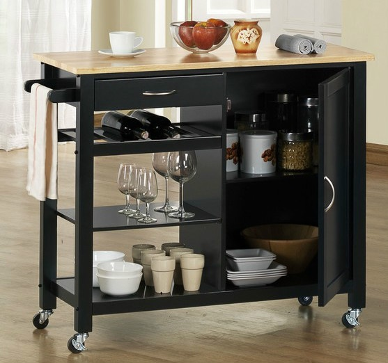 Mobile Kitchen Island Cart Wood Cabinet Storage Portable: 1000+ Images About Storage Carts On Wheels On Pinterest