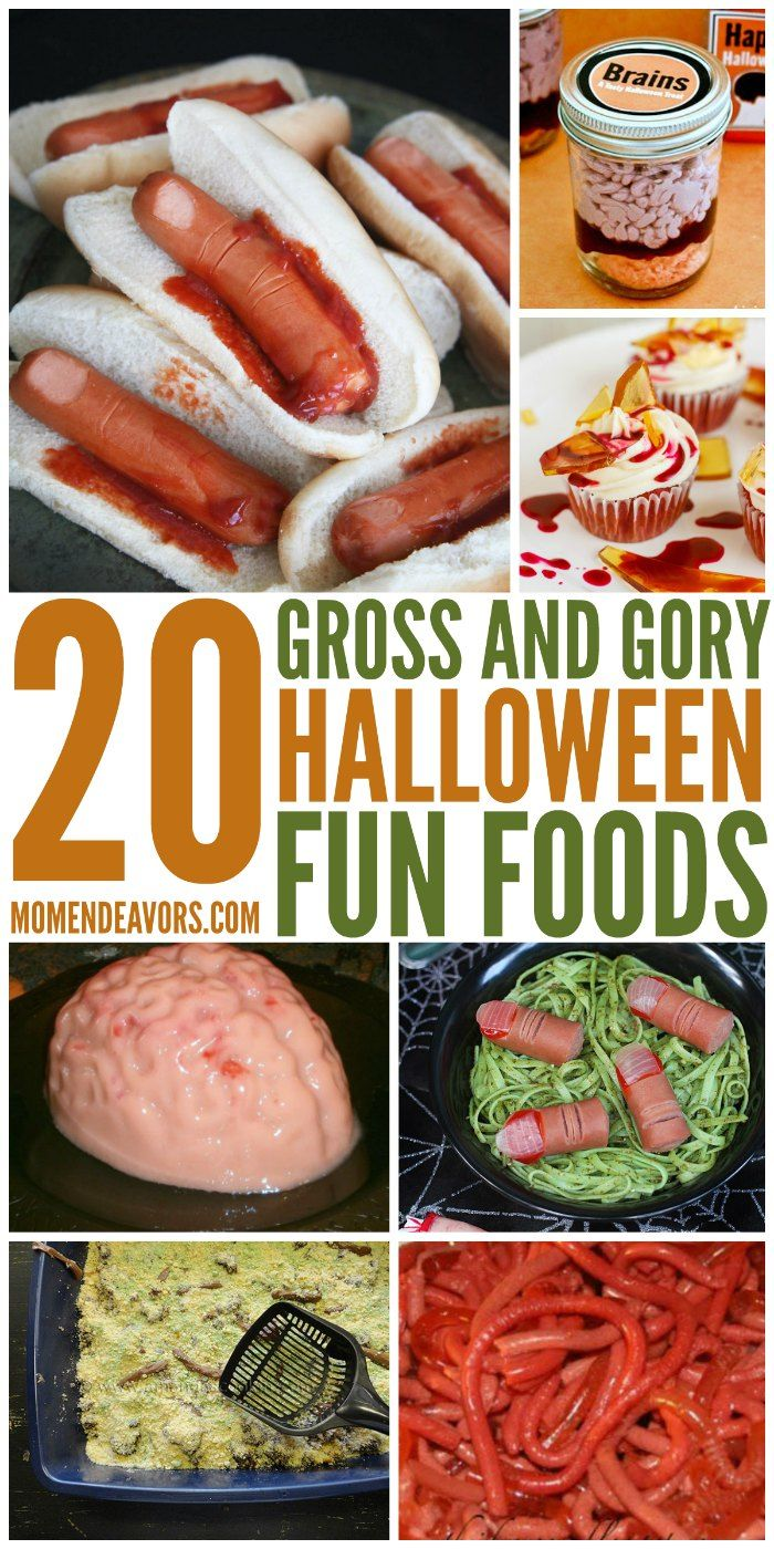 20 + Totally Gross & Gory Halloween Fun Food Ideas!