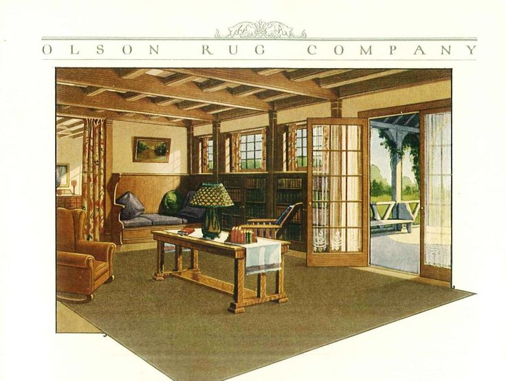 American Craftsman Living Room (from A Catologue For Olson Rugs 1922)