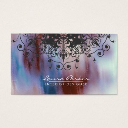 Damask Mandala Watercolor Elegant Artist Vintage Business Card - diy cyo customize create your own personalize
